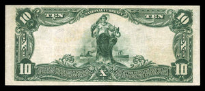 1902 – $10 Note – Linton – Indiana – CH 7411 – FR 624 – VF20