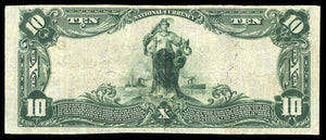 1902 - $10 Note - Weatherly - Pennsylvania - CH 6108 - FR 624 - VF20