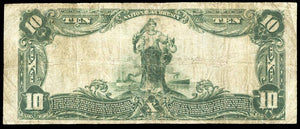 1902 $10 Note Paterson – New Jersey – CH 12383 – FR 635 – F15+