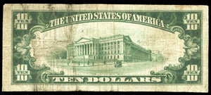 1929 $10 Note Fayetteville – Tennessee – CH 10198 – FR 1801-1 – F12