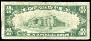1929 $10 Note Hawthorne – New Jersey – CH 12663 – FR 1801-1 – F12