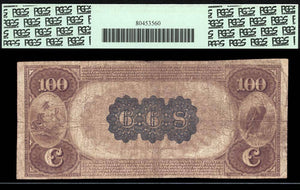 1882 - $100 Note - Brown Back National Bank Note - FR 520 - PCGS F12