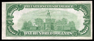 1929 – $100 Note – South Bend – Indiana – CH 4764 – FR 1804-1 – AU50+