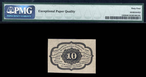 1862 - $0.10 Note - FR 1243 First Issue - Fractional Currency - PMG CU64 EPQ