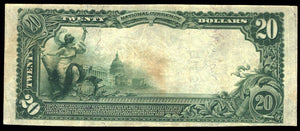 1902 – $20 Note – Mount Pleasant – Tennessee – CH 9319 – FR 652 – VF20