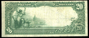 1902 – $20 Note – Latrobe – Pennsylvania – CH 5744 – FR 659 – VF20