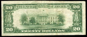 1929 – $20 Note – McMinnville – Tennessee – CH 2221 – FR 1802-1 – V/VF15
