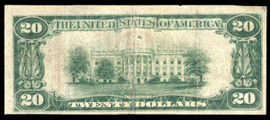 1929 – $20 Note – Newark – New York – CH 349 – FR 1802-1 – F12