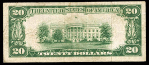 1929 - $20 Note - Fort Wayne - Indiana - CH 7725 - FR 1802-1 - F15