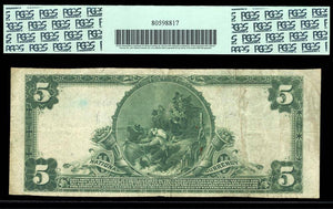 1902 $5 Note Parsons – West Virginia – CH 9610 – FR 600 – PCGS VF25 Apparent