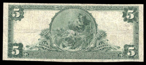 1902 – $5 Note – Glen Lyon – Pennsylvania – CH 13160 – FR 610 – F/VF15