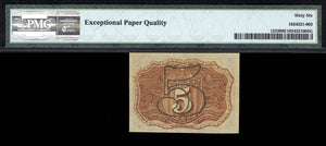 1863 - $0.05 Note - FR 1232 Second Issue - Fractional Currency - PMG GU66 EPQ