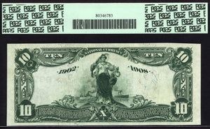 1902 - $10 Note - Date Back National Bank Note - FR 619 - PCGS Very Ch New 64
