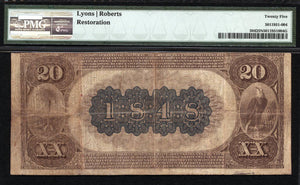 1882 $20 Note Spartanburg - South Carolina - CH 1848 - FR 504 - PMG VF25 NET
