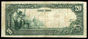 1902  $20 Note – Moss Point – Mississippi – CH 8593 – FR 644 – F12