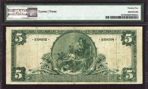 1902 $5 Note New Orleans - Louisiana - CH 7876 - FR 591 - PMG VF25