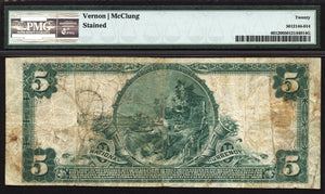 1902 $5 Note Mancos - Colorado - CH 9674 - FR 601 - PMG VF20