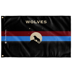 Wolves Custom Flag