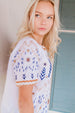 Nyla Embroidered Top in White
