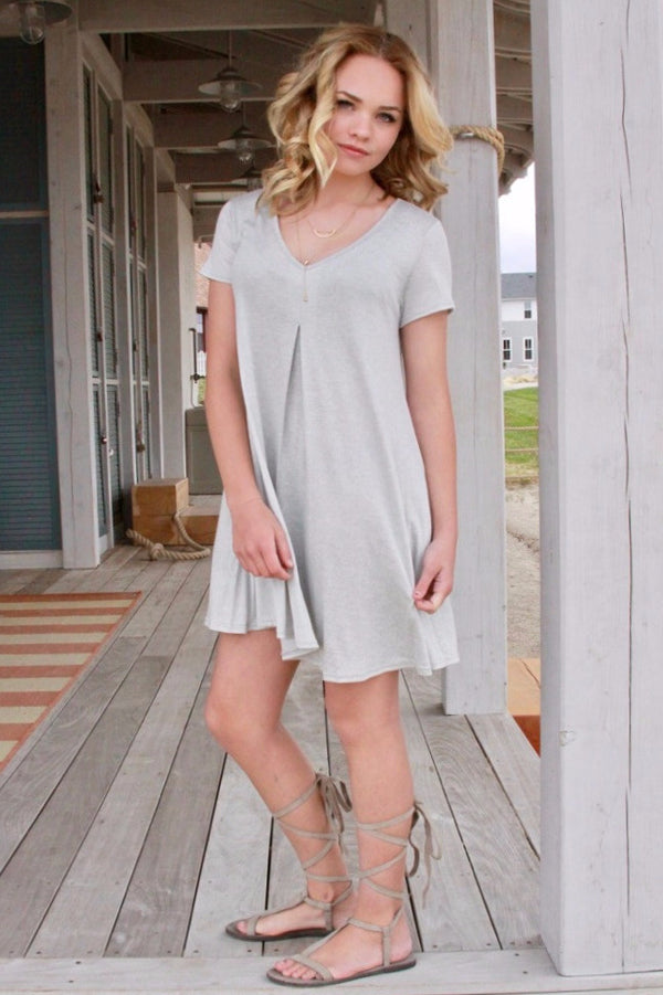 Everyday Grey Dress - Final Sale