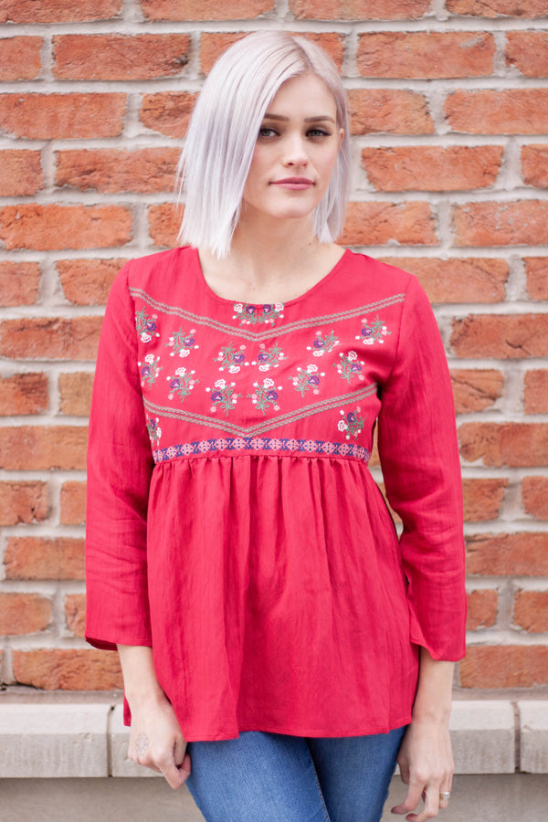 Scarlett Embroidered Blouse