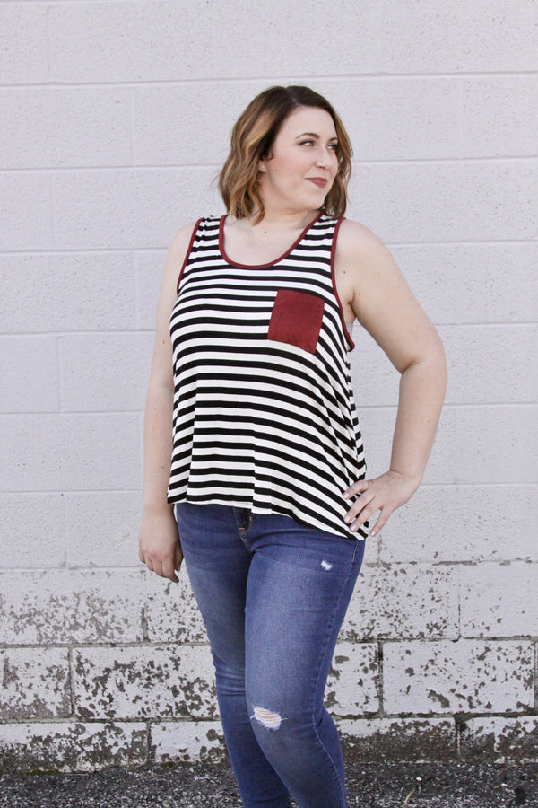 Sienna Stripe Tank - Final Sale