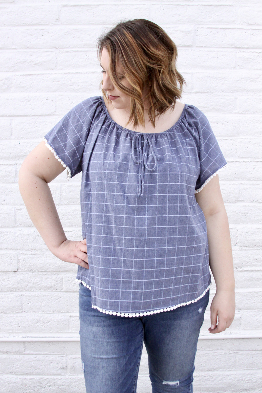 Tangled up in Blue Top - Plus Size