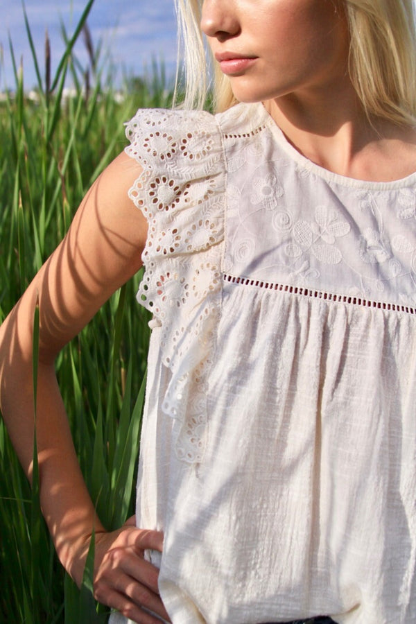 Emma Eyelet Top - FINAL SALE