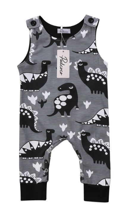 Black & White Dino Romper