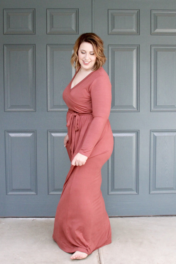 Rich Rouge Maxi - Plus Size - Final Sale