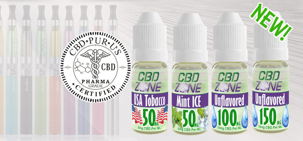 CBD Zone Introduces CBD Vape Liquid in 50mg, 100mg, 150mg – Made from Pharma Grade CBD