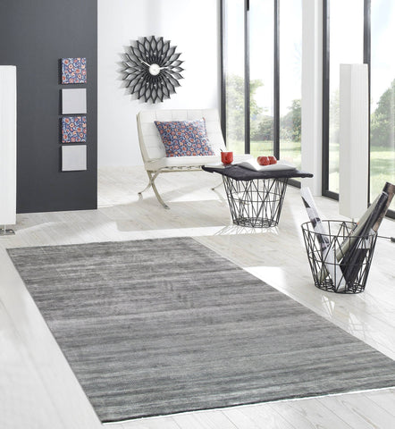 10' X 14' Transitional Grey Wool Rug