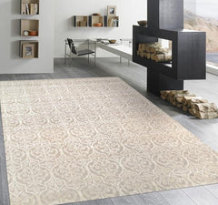 Modern Allover Silk & Wool Area Rugs
