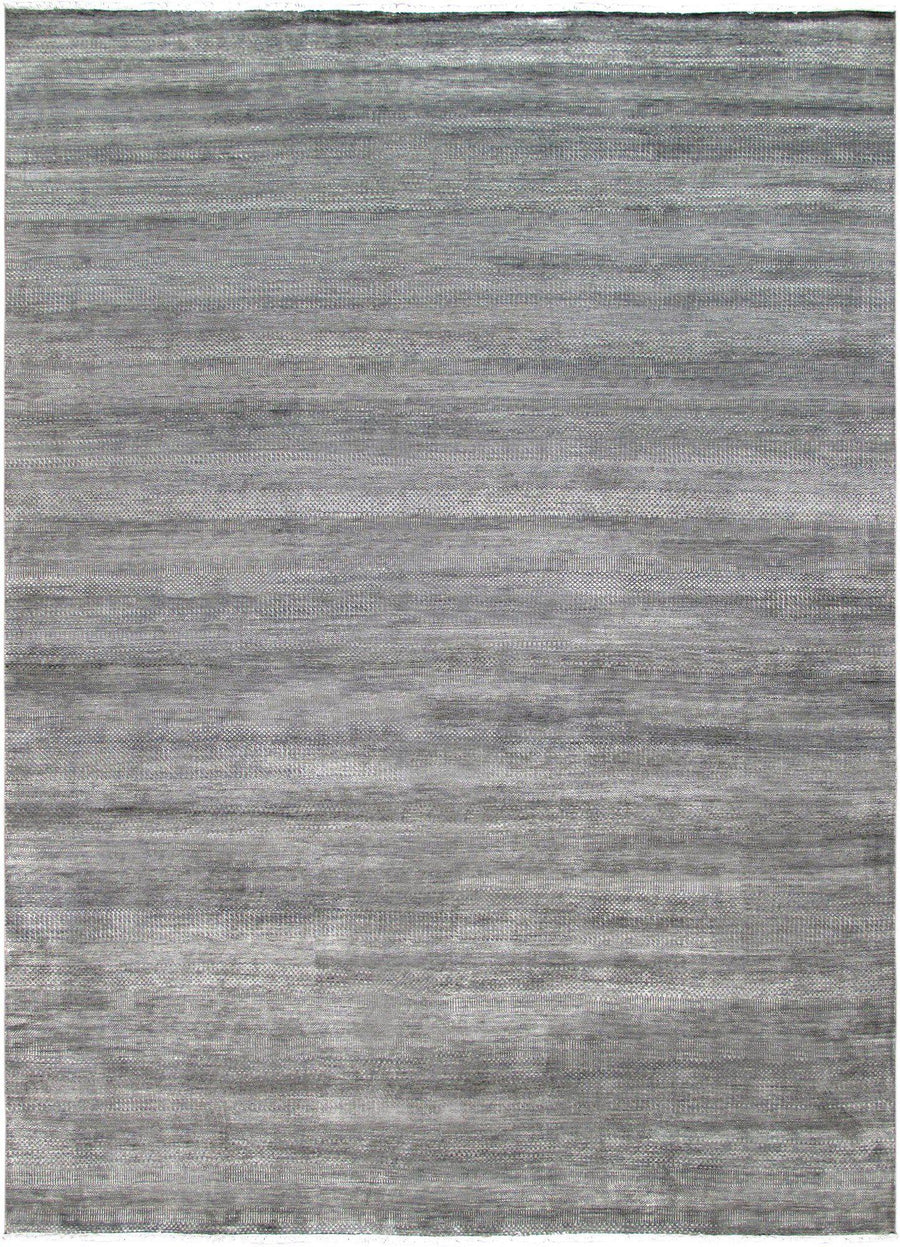 10' X 14' Grey Modern Rug Wool and Silk-Rug Shop and More