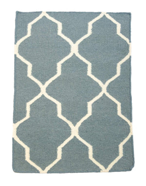 2' x 3' Flatweave Hand Knotted Wool Area Rug-Area Rugs-Rug Shop and More