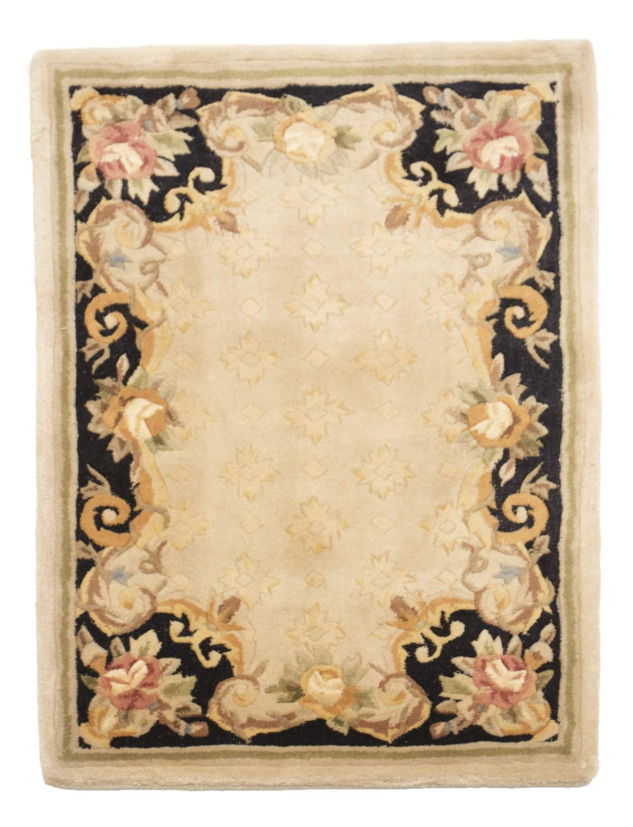 2' x 3' Aubusson Wool Floral Small Rug by Rug Shop and More-Area Rugs-Rug Shop and More