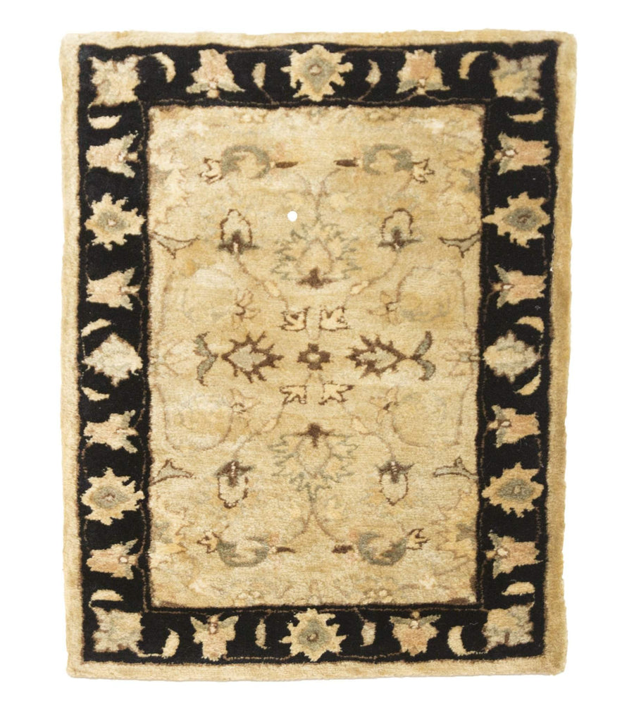 2' x 3' Floral Design Small Wool Rug-Area Rugs-Rug Shop and More