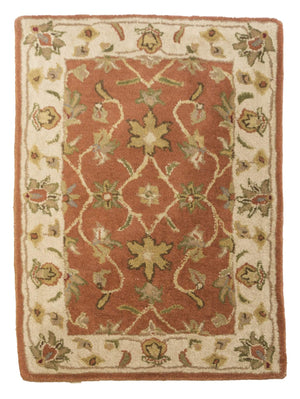 2' x 3' Floral Design Small Wool Rugs-Doormats-Rug Shop and More