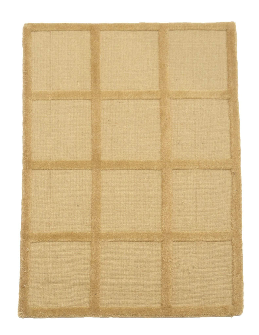 2' x 3' Modern Square Pattern Wool Rug-Area Rugs-Rug Shop and More