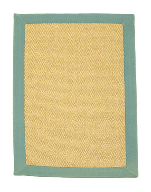 2' x 3' Natural Sisal Eco Friendly Small Rug with Cotton Border by Rug Shop and More Area Rugs