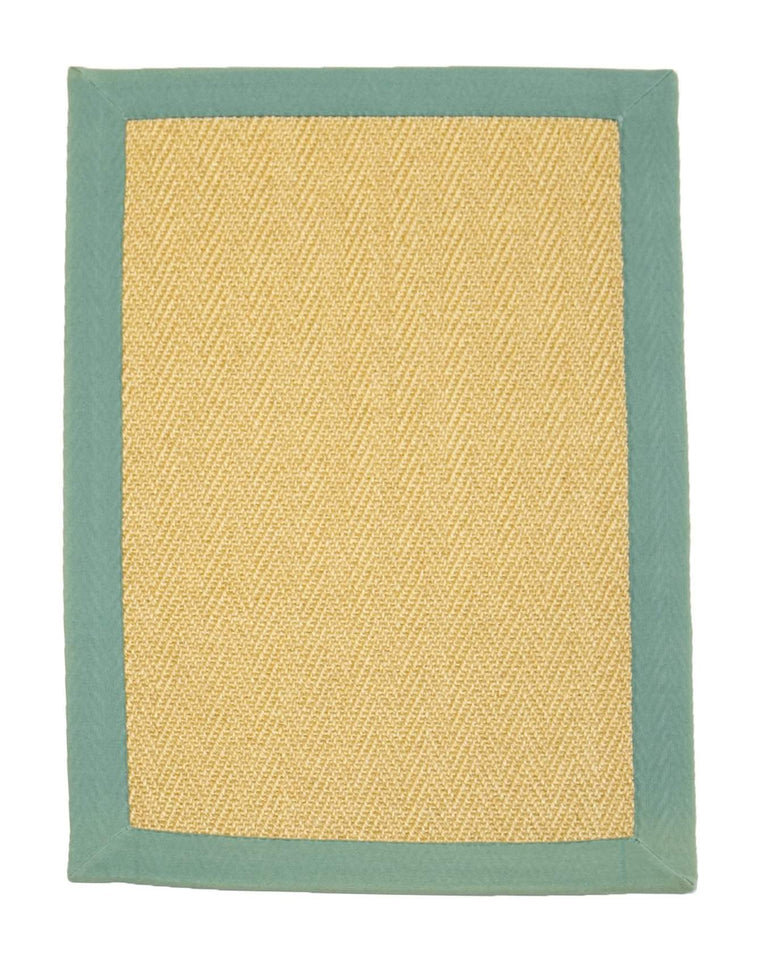 2' x 3' Natural Sisal Eco Friendly Small Rug with Cotton Border by Rug Shop and More