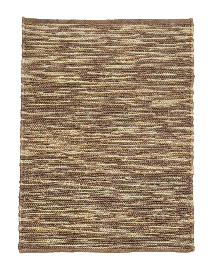 2' x 3' Striped Natural Jute Eco Friendly Small Rug by Rug Shop and More Area Rugs
