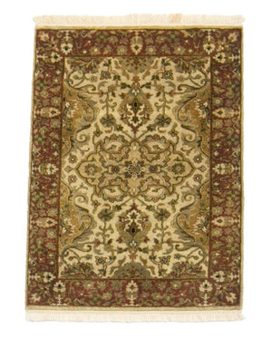 2' x 3' Tabriz Traditional Wool Rug-Area Rugs-Rug Shop and More