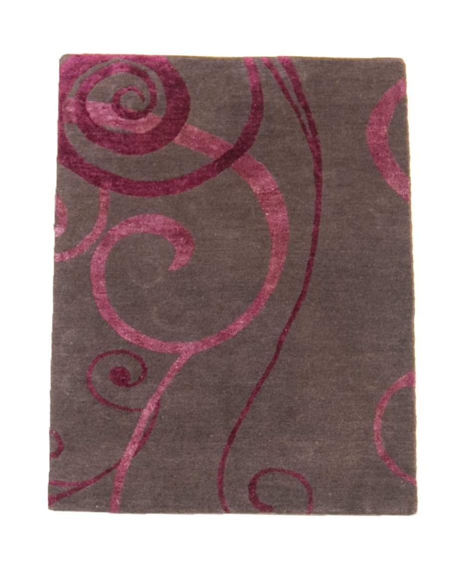 2' x 3' Tibetan Swirl Patterned Small Hanknotted Area Rug