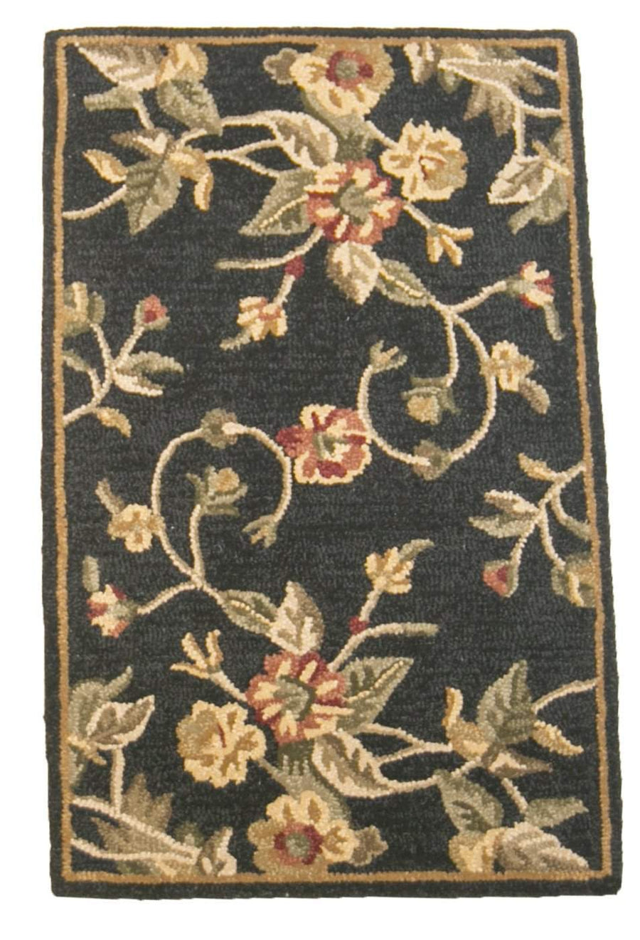 2' x 4' Botanical Black Small Runner Rug-Doormats-Rug Shop and More