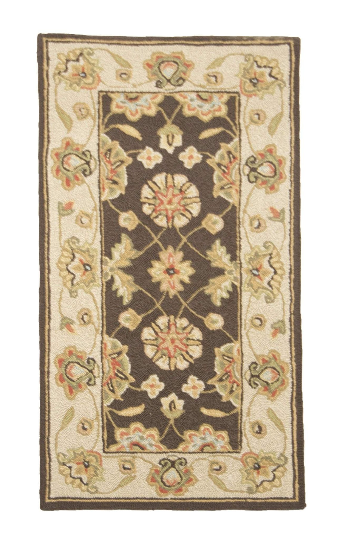 2' x 4' Covington Chocolate Floral Casual Indoor Small Runner Rug