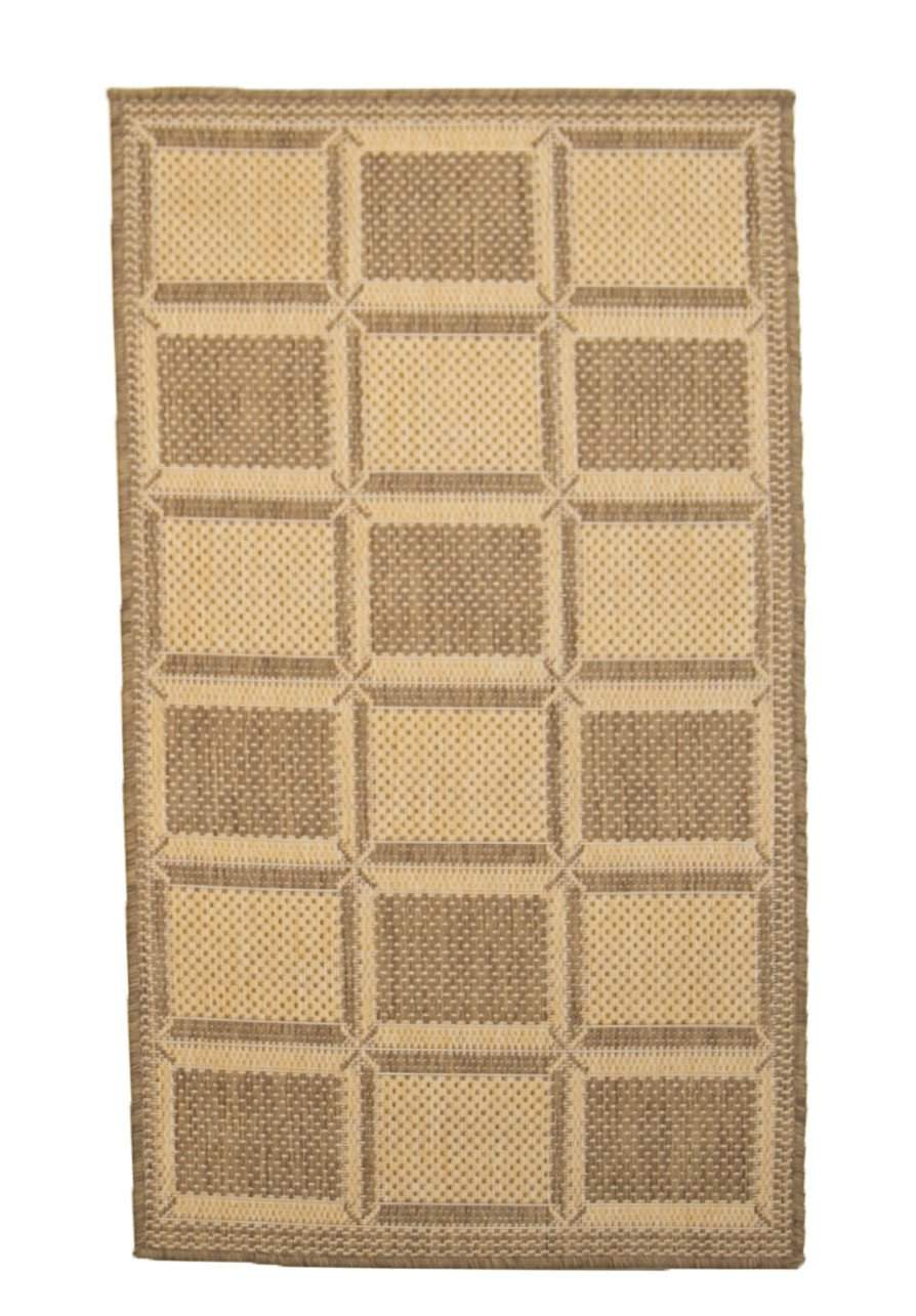 2' x 4' Recife Square Patterned Indoor Outdoor Small Area Rug-Area Rugs-Rug Shop and More