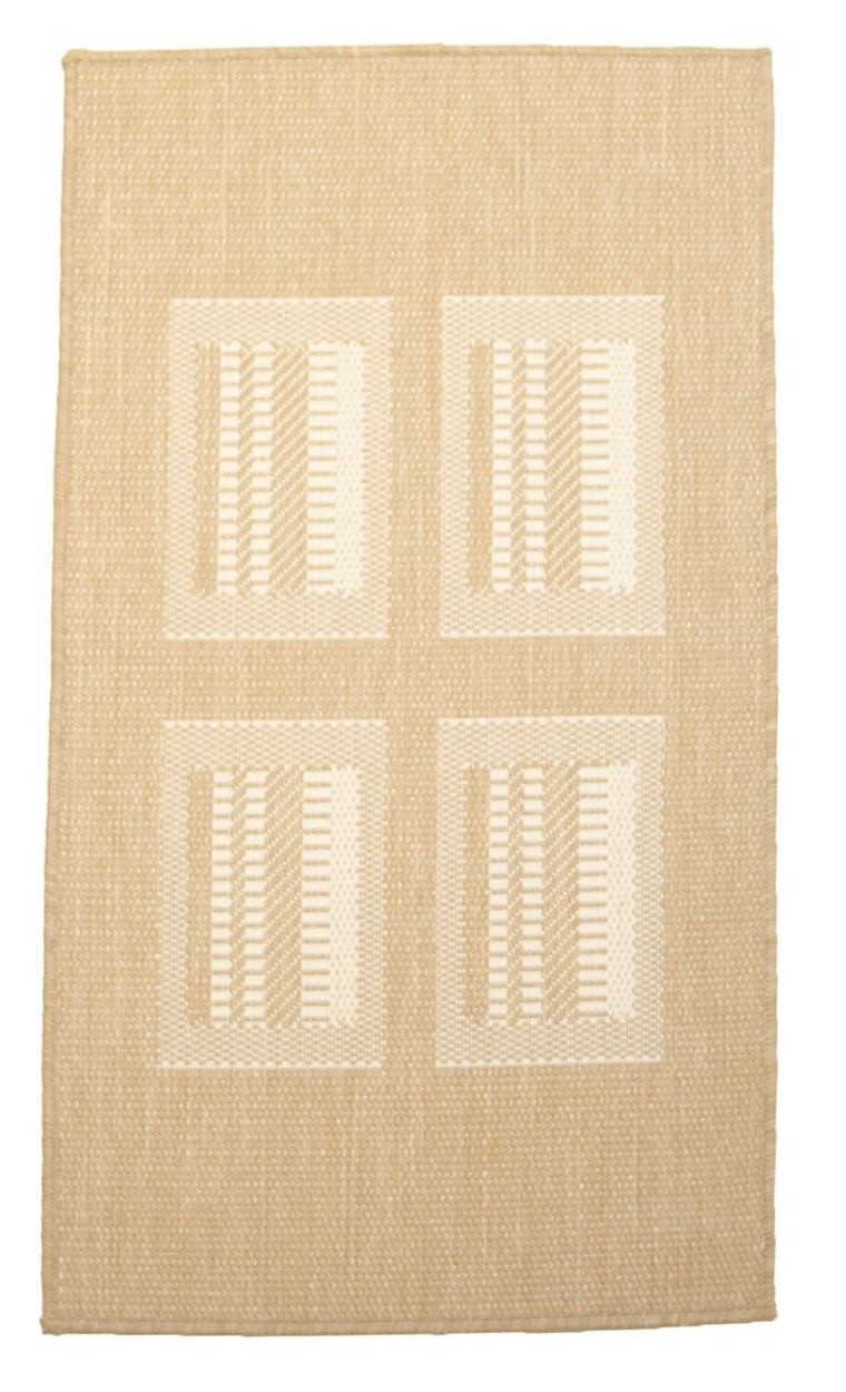 2' x 4' Recife Square Design Indoor Outdoor Small Area Runner