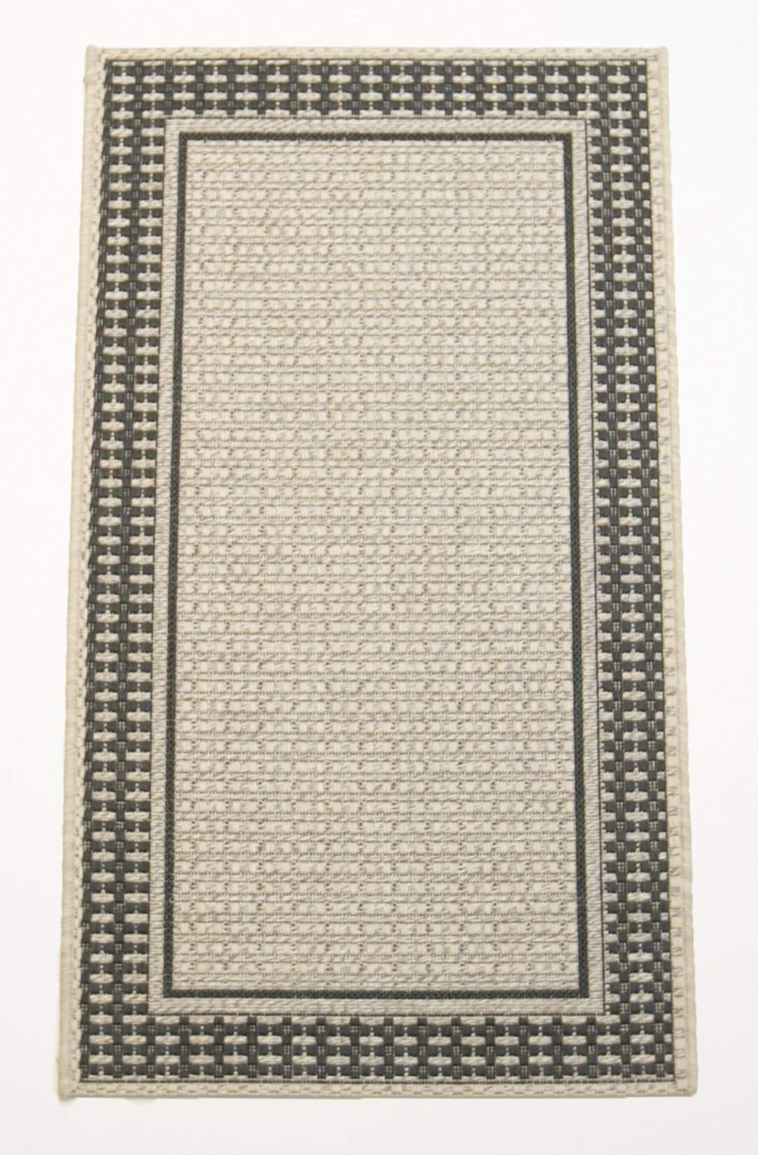 2' x 4' Tides Black & Grey Outdoor Small Area Runner