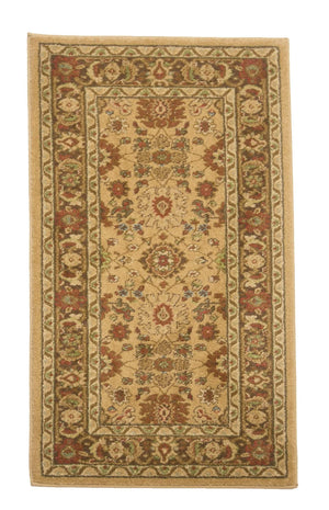 2' x 4' Traditional Brown Floral Small Rug Collection-Area Rugs-Rug Shop and More